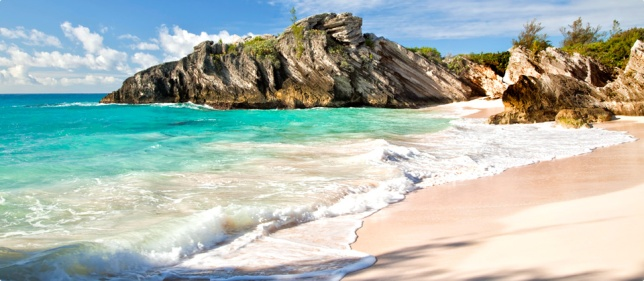Bermuda   Why go: While there's a small chance you may get snatched up by the Bermuda Triangle, this tiny British island in the spring time is a sunny 75 degrees most afternoons. Prices are high, but the laid-back beach vibes of the locals will give you some needed R&R.