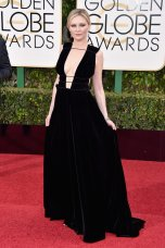 Kirsten Dunst in Valentino Couture Fargo's Dunst floated down the red carpet in a black, strappy Valentino dress. Photo provided by Popsugar.